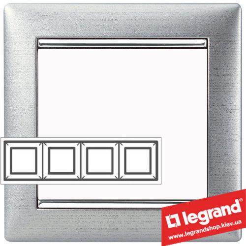 Рамка четырехпостовая Legrand Valena 770334 (алюминий матовый)