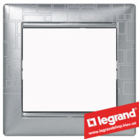 Рамка однопостовая Legrand Valena 770341 (алюминий модерн)