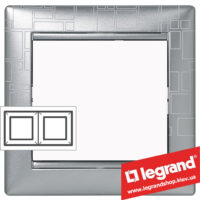 Рамка двухпостовая Legrand Valena 770342 (алюминий модерн)