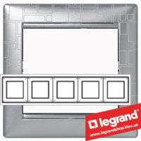 Рамка пятипостовая Legrand Valena 770345 (алюминий модерн)