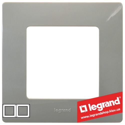 Рамка 2-я Legrand Etika 672522 (светлая галька)