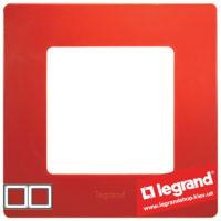 Рамка 2-я Legrand Etika 672532 (красная)