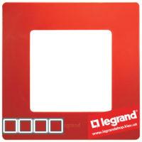 Рамка 4-я Legrand Etika 672534 (красная)