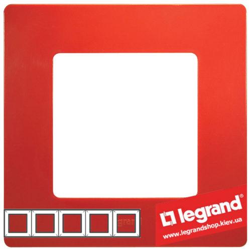 Рамка 5-я Legrand Etika 672535 (красная)