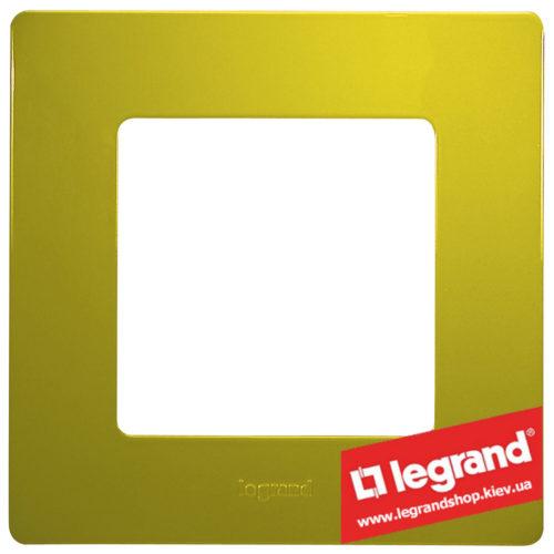 Рамка 1-я Legrand Etika 672541 (зеленый папоротник)