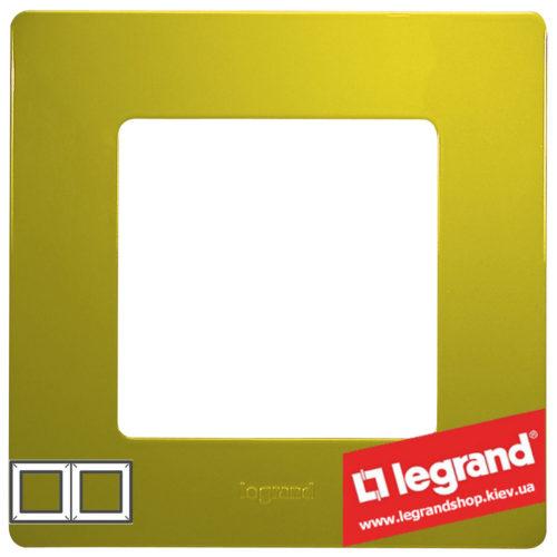 Рамка 2-я Legrand Etika 672542 (зеленый папоротник)
