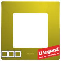 Рамка 3-я Legrand Etika 672543 (зеленый папоротник)