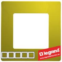 Рамка 5-я Legrand Etika 672545 (зеленый папоротник)