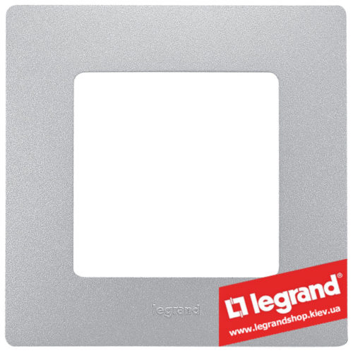 Рамка 1-я Legrand Etika 672551 (алюминий)