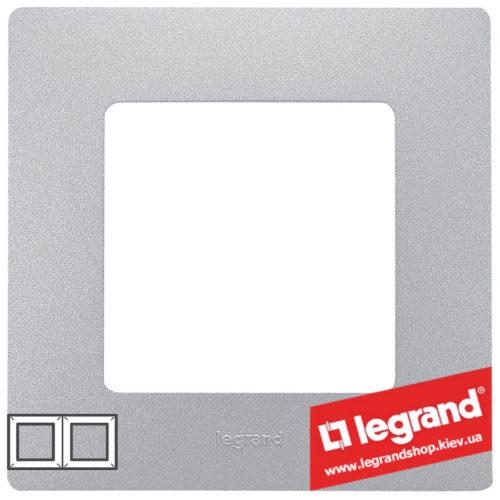 Рамка 2-я Legrand Etika 672552 (алюминий)