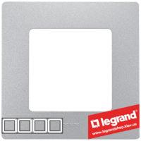Рамка 4-я Legrand Etika 672554 (алюминий)