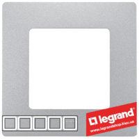 Рамка 5-я Legrand Etika 672555 (алюминий)