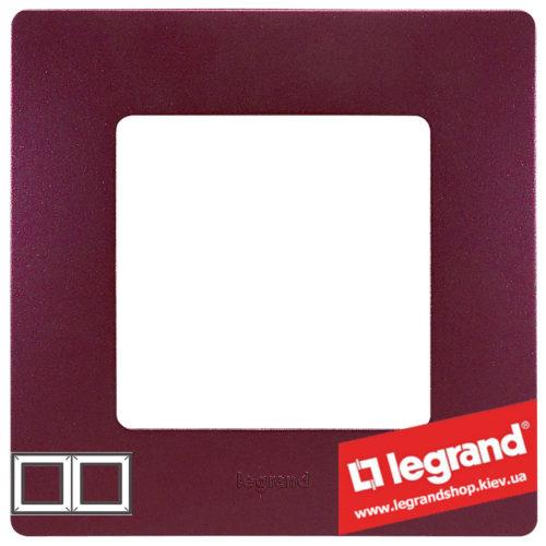 Рамка 2-я Legrand Etika 672562 (сливовый)