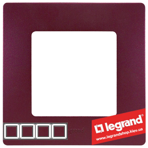 Рамка 4-я Legrand Etika 672564 (сливовый)