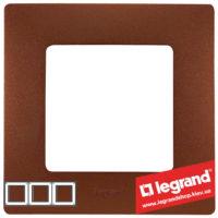 Рамка 3-я Legrand Etika 672573 (какао)