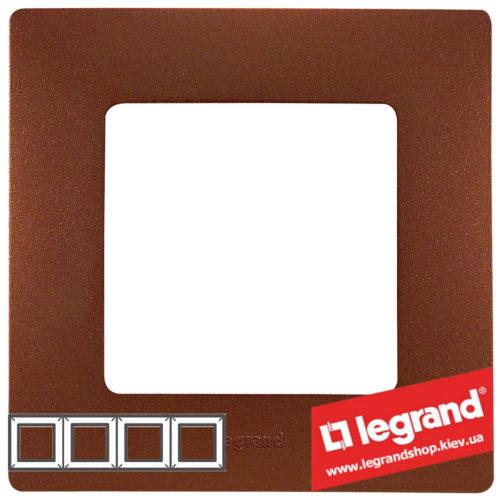 Рамка 4-я Legrand Etika 672574 (какао)