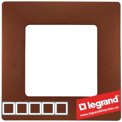 Рамка 5-я Legrand Etika 672575 (какао)