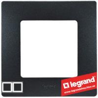 Рамка 2-я Legrand Etika 672582 (антрацит)