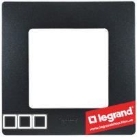 Рамка 3-я Legrand Etika 672583 (антрацит)