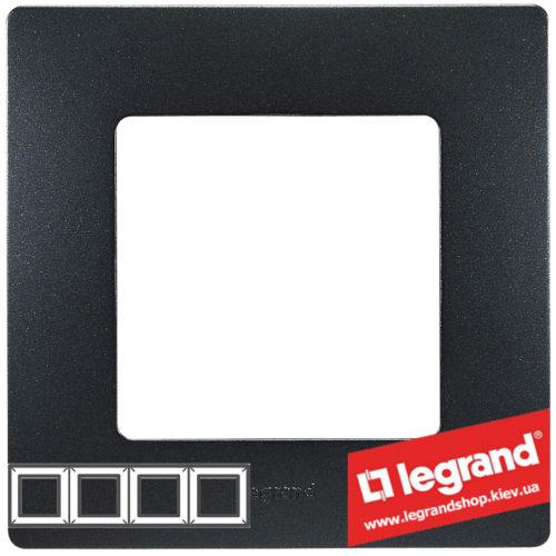 Рамка 4-я Legrand Etika 672584 (антрацит)