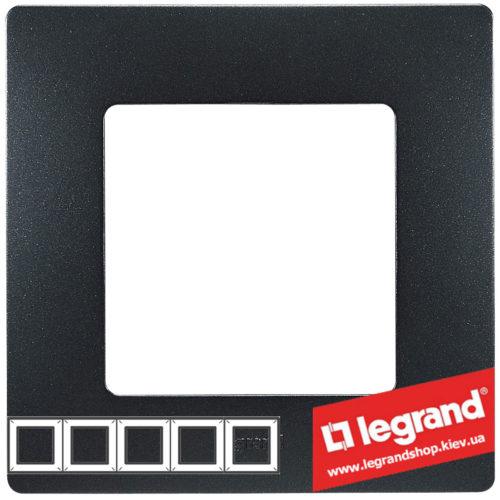 Рамка 5-я Legrand Etika 672585 (антрацит)