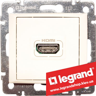 Розетка аудио/видео HDMI Legrand Valena 770085 (белая)