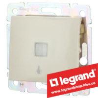 Кнопка Legrand Valena с подсветкой и символом лампы 10А 774313 (слоновая кость)