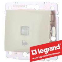 Кнопка Legrand Valena с подсветкой и символом звонка 10А 774315 (слоновая кость)
