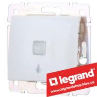 Кнопка Legrand Valena с подсветкой и символом лампы 10А 774413 (белая)