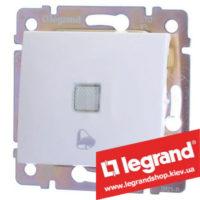 Кнопка Legrand Valena с подсветкой и символом звонка 10А 774415 (белая)