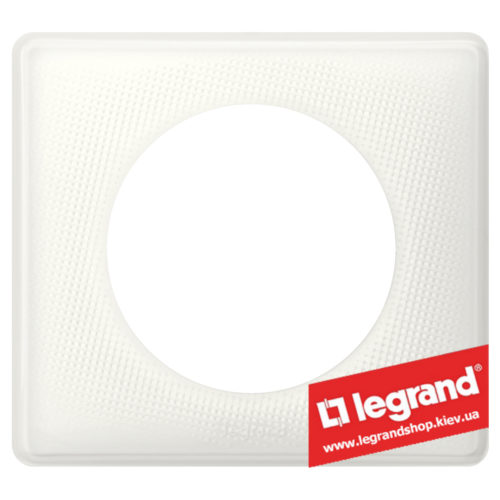 Рамка 1-я Legrand Celiane 66640 (белый муар)