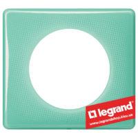 Рамка 1-я Legrand Celiane 66641 (бирюзовый муар)