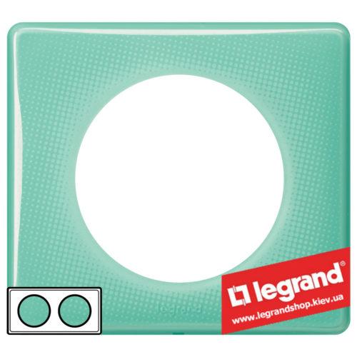Рамка 2-я Legrand Celiane 66642 (бирюзовый муар)