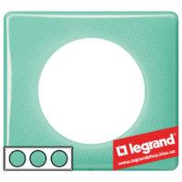 Рамка 3-я Legrand Celiane 66643 (бирюзовый муар)