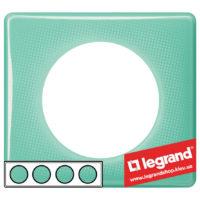 Рамка 4-я Legrand Celiane 66644 (бирюзовый муар)