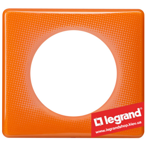 Рамка 1-я Legrand Celiane 66651 (оранжевый муар)