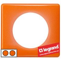 Рамка 2-я Legrand Celiane 66652 (оранжевый муар)