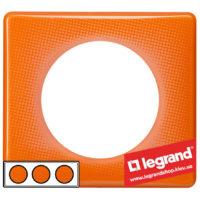 Рамка 3-я Legrand Celiane 66653 (оранжевый муар)