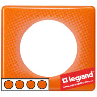 Рамка 4-я Legrand Celiane 66654 (оранжевый муар)
