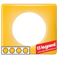 Рамка 3-я Legrand Celiane 66673 (песочный муар)