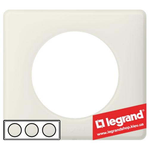 Рамка 3-я Legrand Celiane 66703 (белая перкаль)