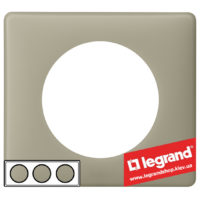 Рамка 3-я Legrand Celiane 66713 (грин перкаль)