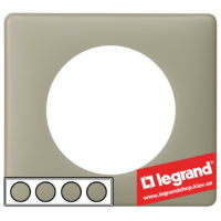 Рамка 4-я Legrand Celiane 66714 (грин перкаль)