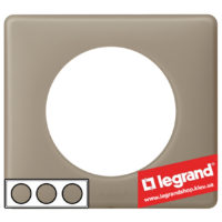 Рамка 3-я Legrand Celiane 66723 (грэй перкаль)