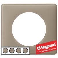 Рамка 4-я Legrand Celiane 66724 (грэй перкаль)