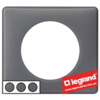 Рамка 3-я Legrand Celiane 66733 (фиолетовая перкаль)