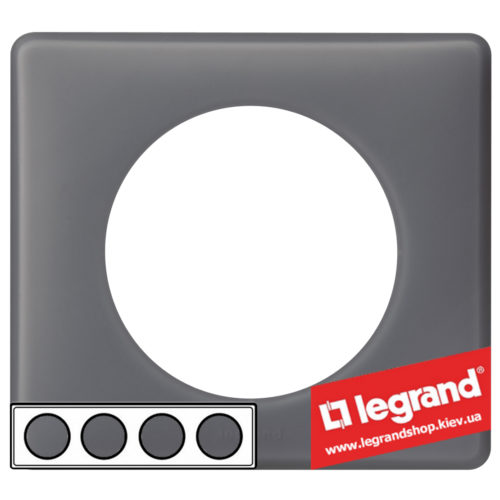 Рамка 4-я Legrand Celiane 66734 (фиолетовая перкаль)