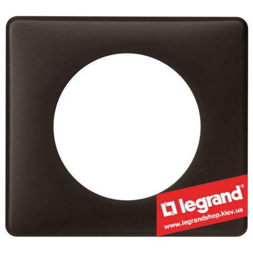 Рамка 1-я Legrand Celiane 66741 (черная перкаль)