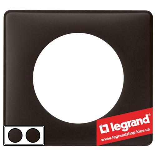 Рамка 2-я Legrand Celiane 66742 (черная перкаль)