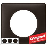 Рамка 3-я Legrand Celiane 66743 (черная перкаль)